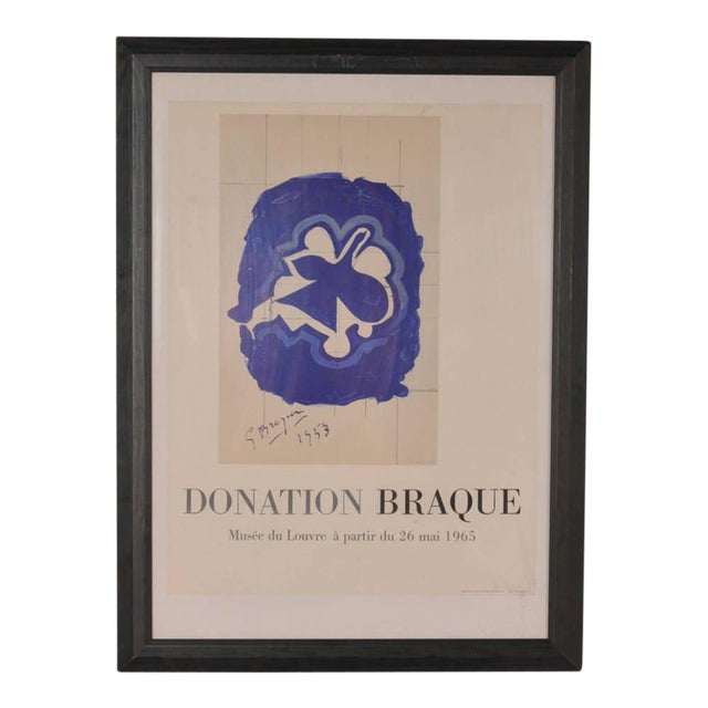 Lithography by Georges Braque for Louvre Museum, Printed by Mourlot in 1965 - Image 1 of 6