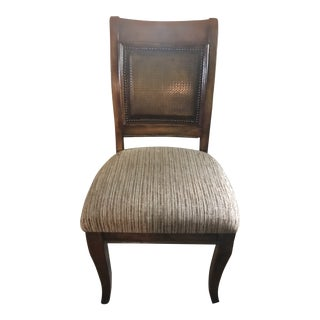 Traditional Walnut Dining Chair. This Is a Large Oversize Chair That Would Make a Good Accent Piece. For Sale
