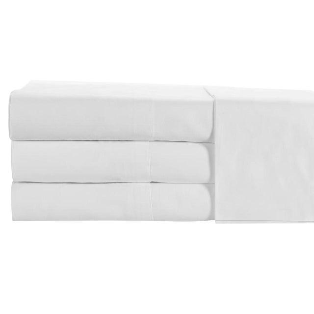 Portofino Oxford Fitted Sheet Queen - White For Sale