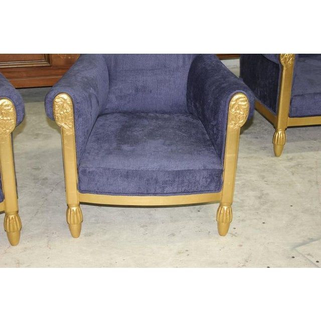 Giltwood French Art Deco Paul Follot Settee & Chairs - Set of 3 For Sale - Image 7 of 10