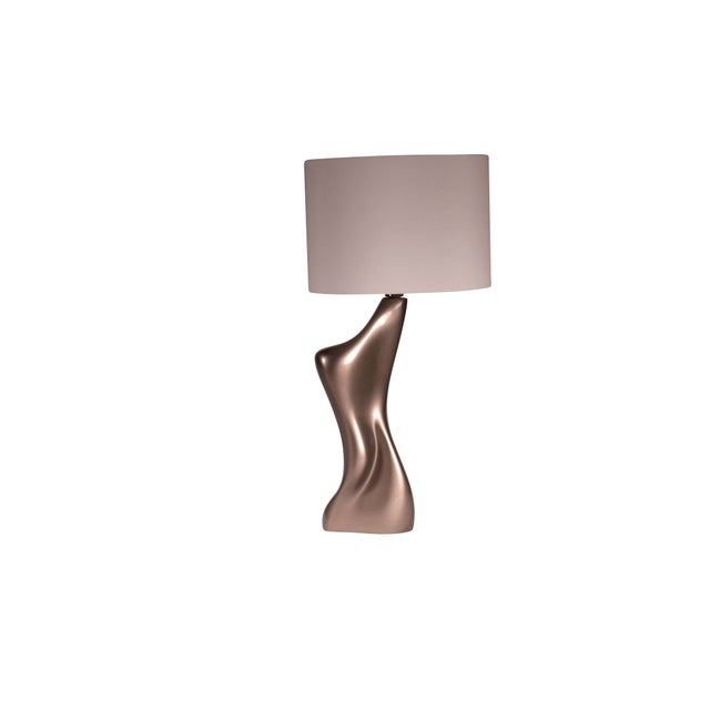 Wood Helen Table Lamp - Metallic Dark Gold For Sale - Image 7 of 7