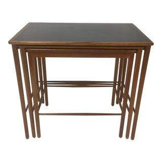 1970s Mid Century Modern Poul Jeppesen Nesting Tables - Set of 3