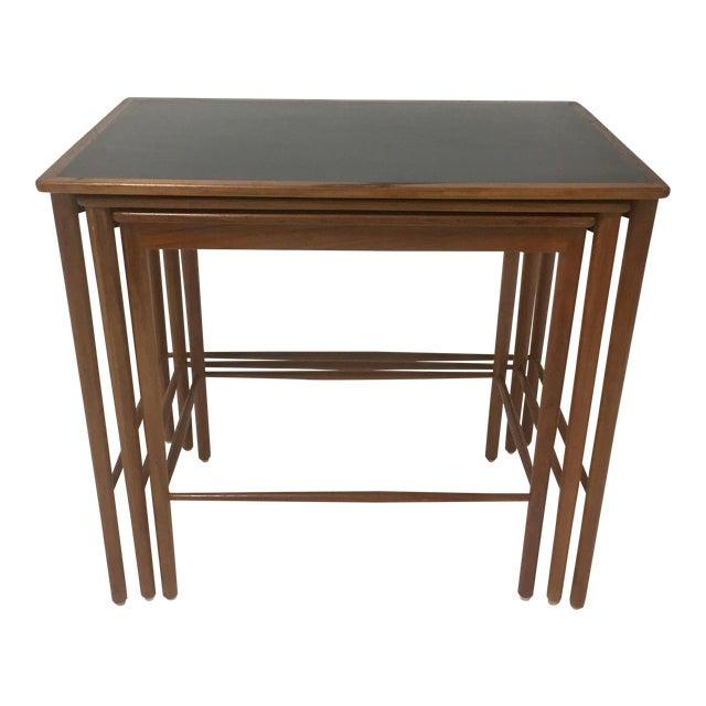 1970s Mid Century Modern Poul Jeppesen Nesting Tables - Set of 3 For Sale