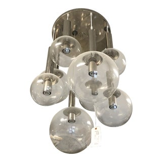 Modern Glass Balls & Chrome Chandelier