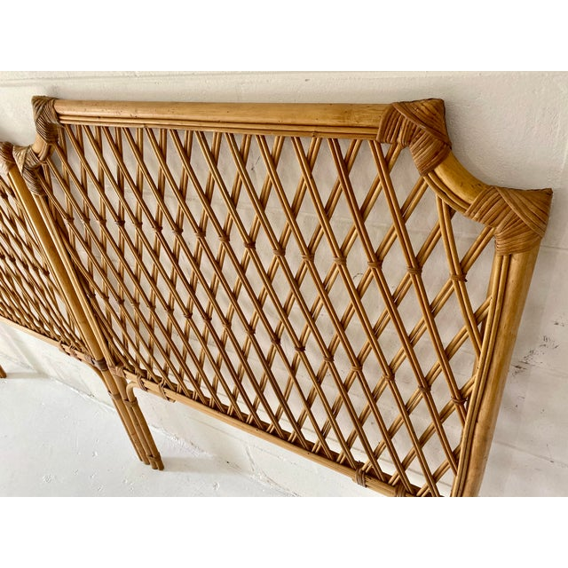 Vintage Rattan Headboards- a Pair For Sale - Image 12 of 13