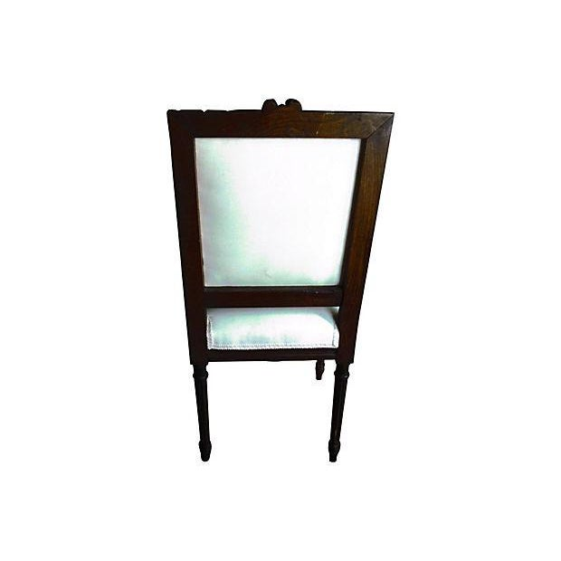 French French Walnut Side Chair For Sale - Image 3 of 3