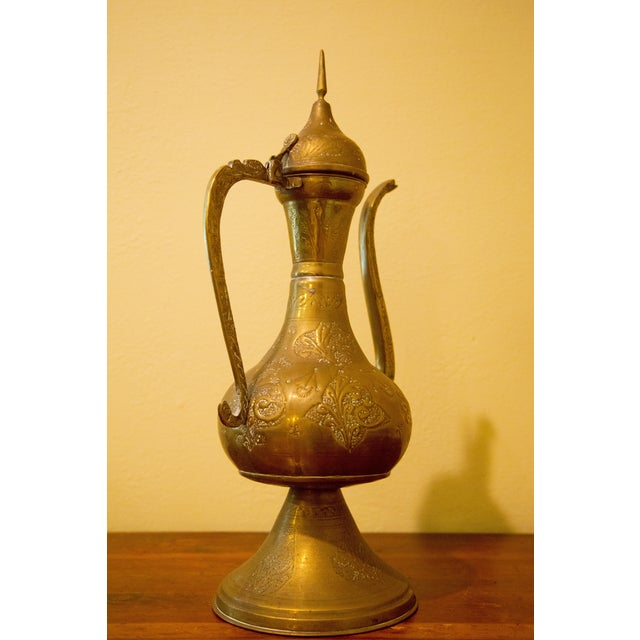 Vintage Moroccan Brass Tea Pot For Sale - Image 4 of 7