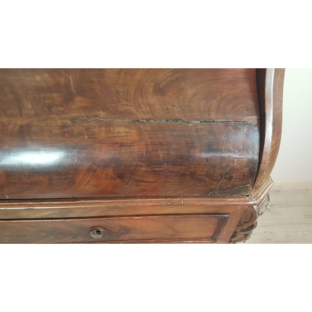 19th Century English Mahogany Wood Bookcase With Secretaire For Sale - Image 9 of 12