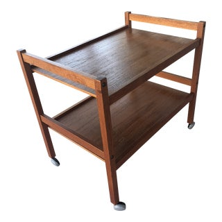 Mid-Century Danish Modern BRDR Furbo Teak Bar Cart For Sale