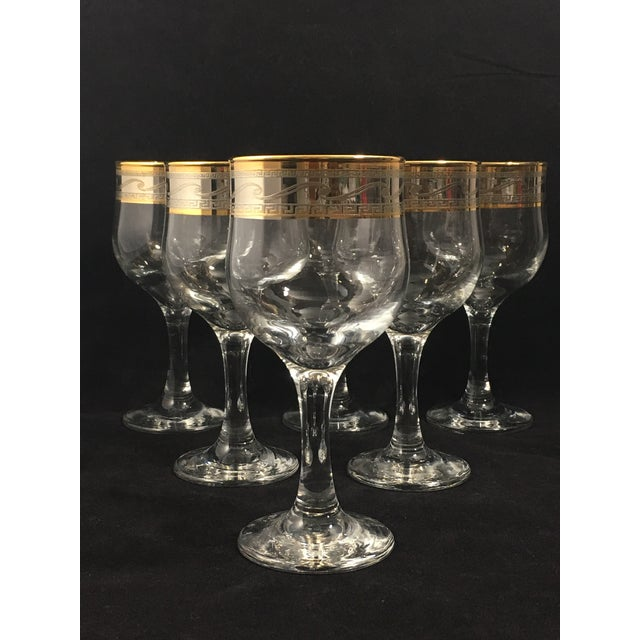 Glass Cristalleria Fumo Hand Decorated Italian Glassware - Set of 6 For Sale - Image 7 of 7