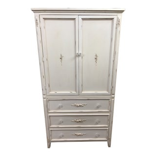 Victorian Painted 2 Door Wardrobe With Key Excellent In Quality