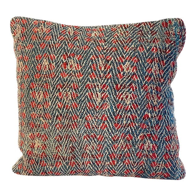 Vintage Textile Decorative Pillow by Pat McGann For Sale