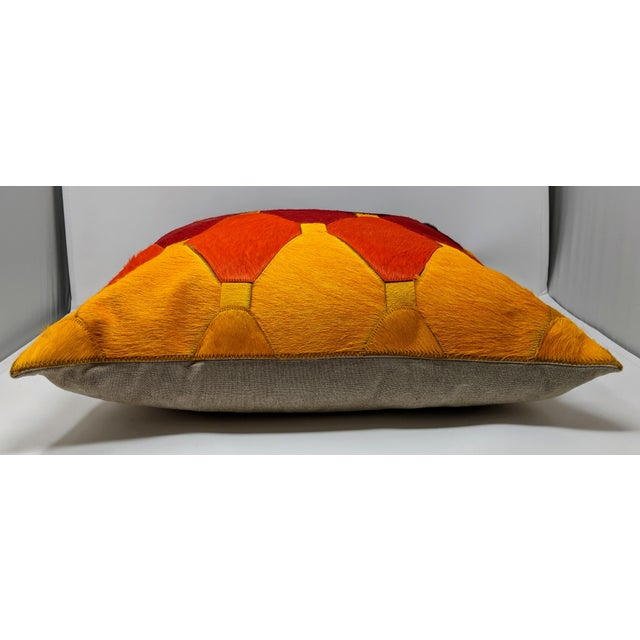 Cowhide Moroccan Pillow For Sale In Providence - Image 6 of 9