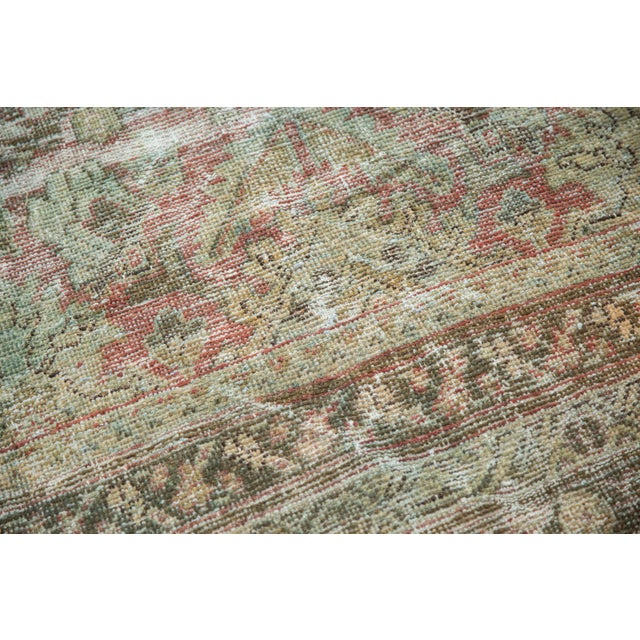 "Vintage Distressed Mahal Carpet - 10'5"" X 13'11"" For Sale - Image 11 of 13"