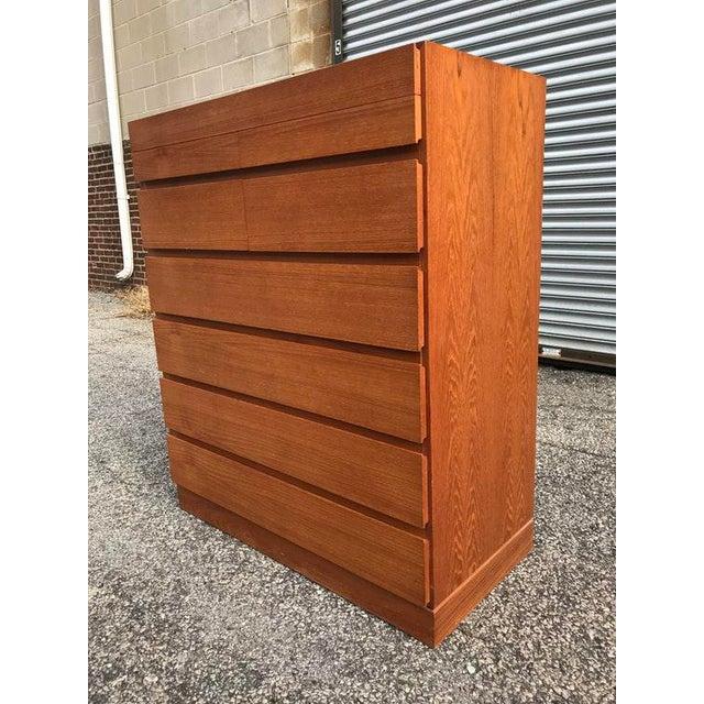 Danish Teak Tall Dresser - Image 3 of 7