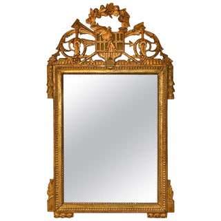 Louis XVI Carved Gilt Mirror For Sale