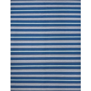 Schumacher Admiral Stripe Area Rug in Hand-Woven Wool, Patterson Flynn Martin For Sale