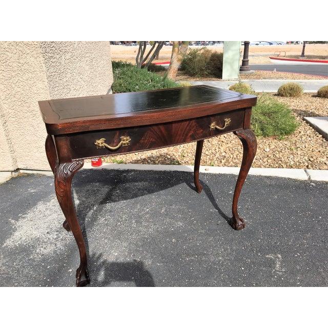 Mahogany & Leather Writing Desk - Image 9 of 9
