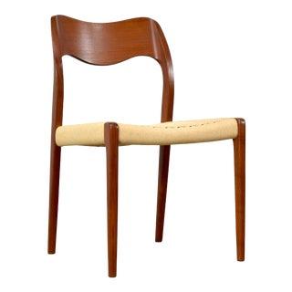 Danish Modern Teak Dining Chair by j.l. Møller For Sale