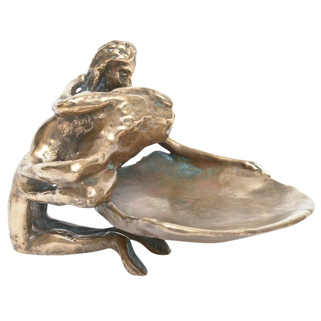 Bronze Sensual and Erotic Lovers Embrace Sculpture - Image 1 of 10