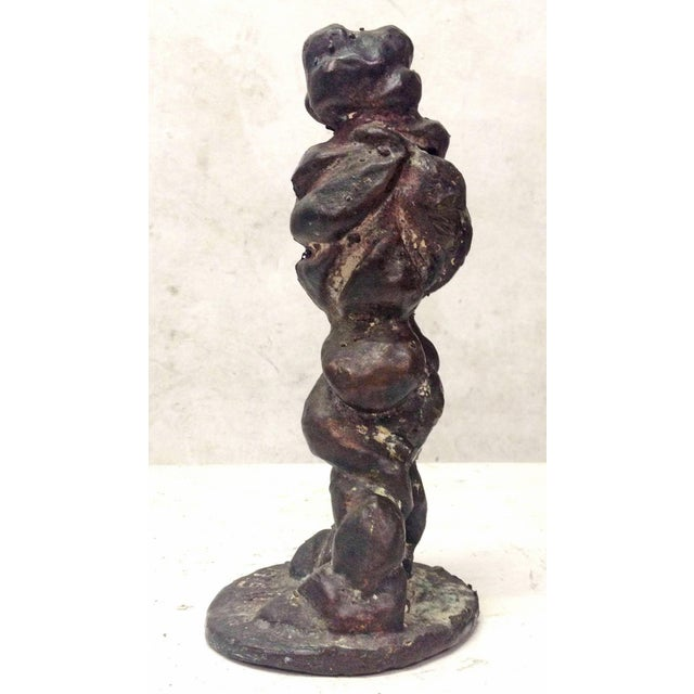 Vintage 1975 Amorphous Cast Bronze Sculpture - Image 5 of 7