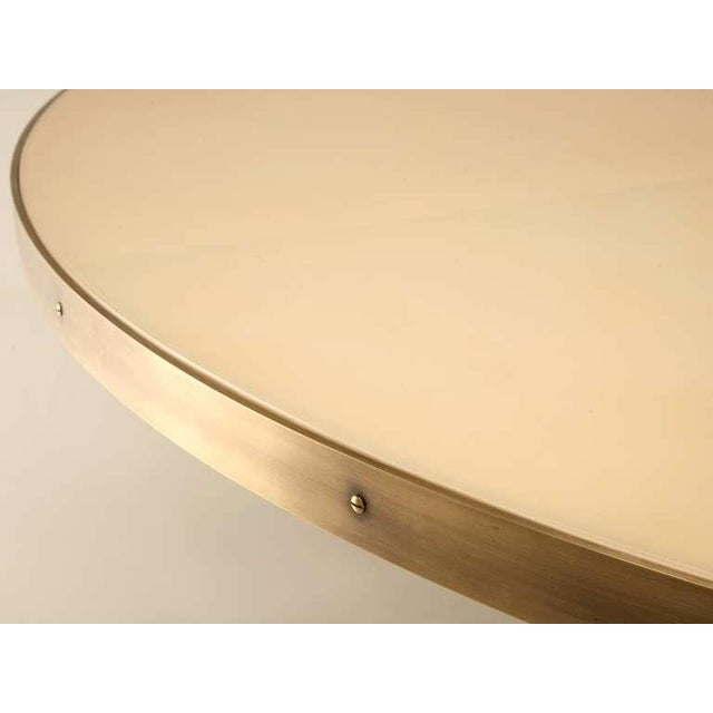 Metal Custom-Made Woven Solid Bronze Table Base For Sale - Image 7 of 11
