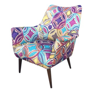 Colorful Danish Mid Century Modern Chair For Sale
