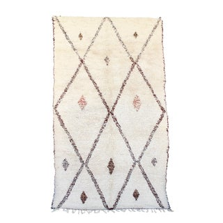 """Vintage Beni Ourain Moroccan Berber Rug - 6'2"""" X 10'7"""" For Sale"""