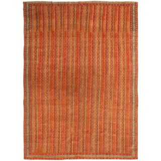 Antique Savannah Red and Beige Wool Persian Rug For Sale
