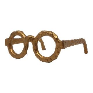Vintage Cast Metal Spectacles Figure For Sale