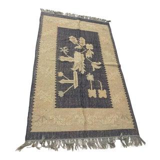 Vintage Small Ethnic Afghani Rug For Sale