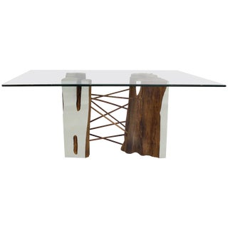 Brazilian Reclaimed Guaranta Wood Table Base From the Amazon by Valeria Totti For Sale