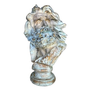 Late 20th Century Neo-Classical Neptune/Poseidon Plaster Bust