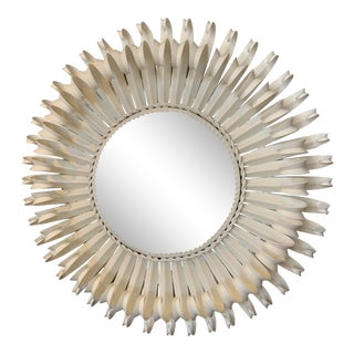 1950s Hollywood Regency Sunburst Mirror For Sale