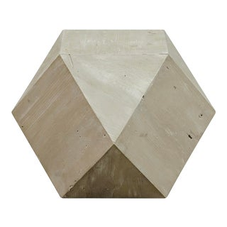 Noir Cfc Iconsahedron Hexagon Wood Side Table For Sale