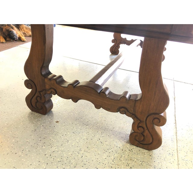 Early 20th Century Spanish Designer Reclaimed Wood XL Dining Table For Sale - Image 5 of 13