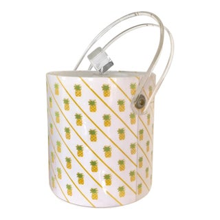 Pineapple and Lucite Ice Bucket For Sale