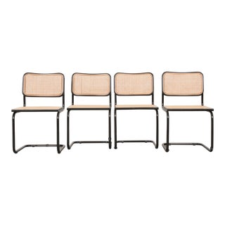 Early 20th Century Vintage Bauhaus-Style Steel Side Chairs- Set of 4 For Sale
