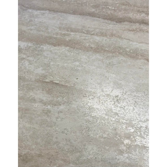 Vintage Postmodern Travertine Marble Round Dining Table For Sale - Image 9 of 12