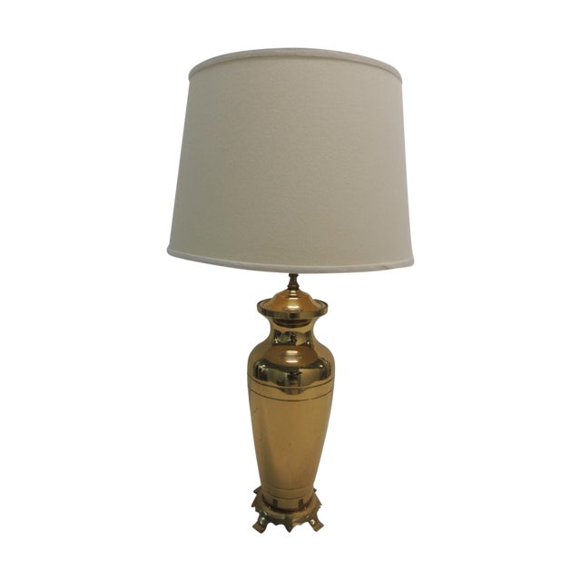 Hollywood Regency Brass Ginger Jar Table Lamp - Image 1 of 5