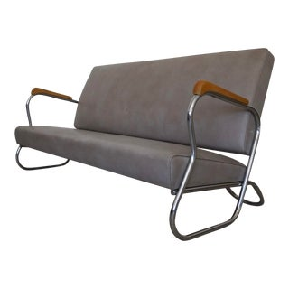 Mid-Century Kem Weber Chrome Sofa For Sale