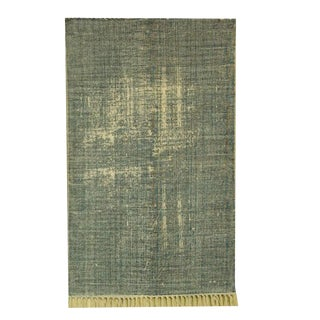 Distressed Printed Cotton Rug - 2′ × 3′ For Sale