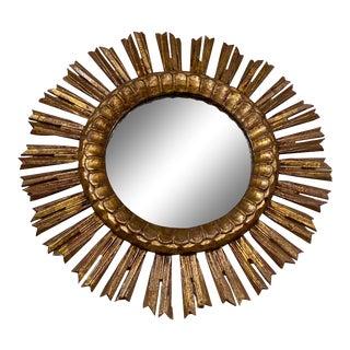 Antique Gilt Sunburst Mirror For Sale
