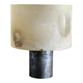 Alfredo Barbini Scavo Glass Table Lamp, Circa 1965 For Sale