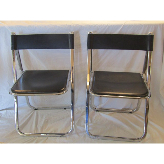 Aarben Italian Folding Chairs - A Pair - Image 3 of 7