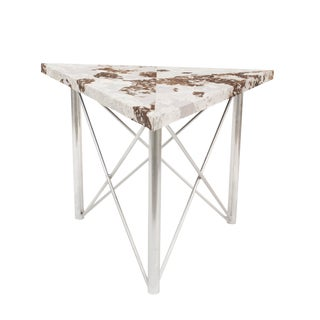 Contemporary Triangular Goat Skin End Tables For Sale