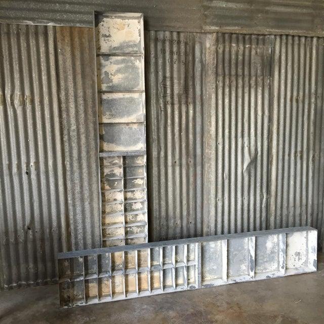 Vintage Large Industrial Metal Storage Shelf Unit - Image 3 of 11