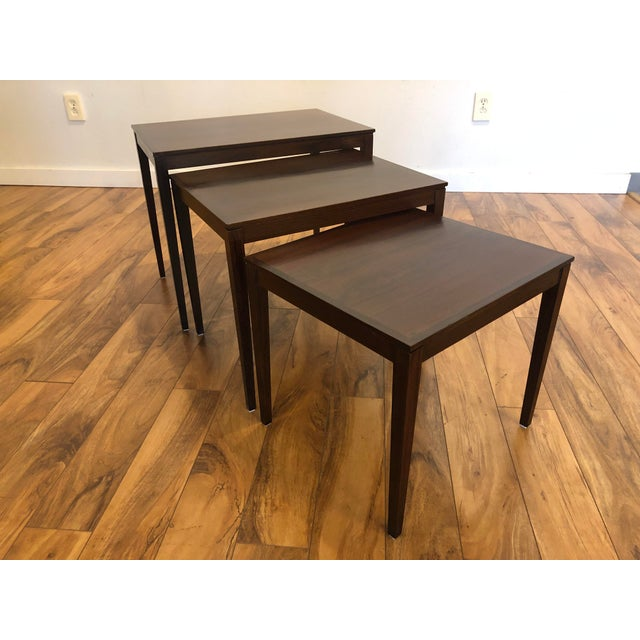 Bent Silberg Mobler Bent Silberg Rosewood Nesting Tables For Sale - Image 4 of 11