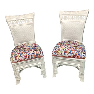 1980s Vintage Otomi Woven Chairs- a Pair For Sale