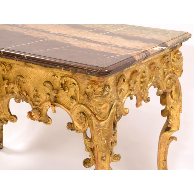 Regency Console in Wood and Marble, French, XVIII Century For Sale - Image 4 of 11